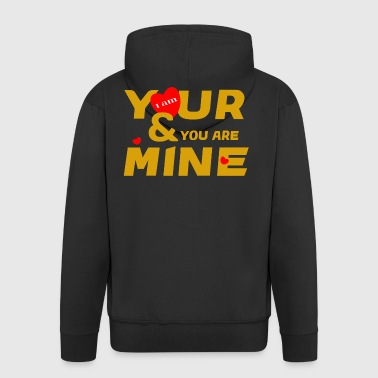 i am yours and you are mine loce cool fashion desi - Men's Premium Hooded Jacket