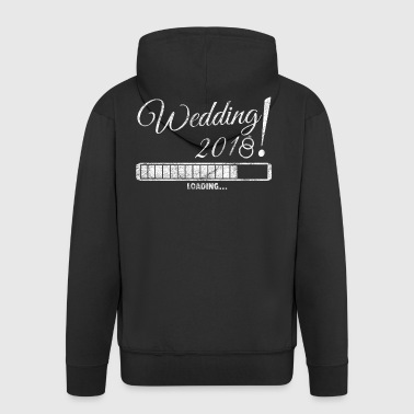 Wedding 2018 Loading Gift Wedding Engagement - Men's Premium Hooded Jacket