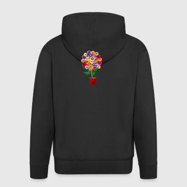 Collage of different flowers - Men's Premium Hooded Jacket