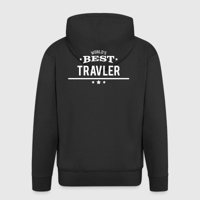 Worlds Best Travel Gift Vacation Trip Adventure - Men's Premium Hooded Jacket