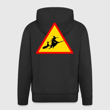 Road sign witch - Men's Premium Hooded Jacket