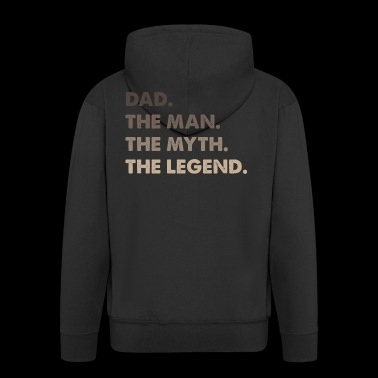 Best Dad. Dad of the Year.Gifts for Dads Super Dad - Men's Premium Hooded Jacket