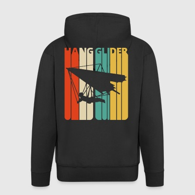 Vintage Retro 70's Hang glider Gifts. Hang Gliding - Men's Premium Hooded Jacket