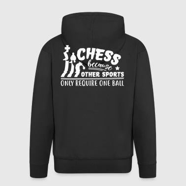 Chess Because Other Sports Require Ball - Men's Premium Hooded Jacket