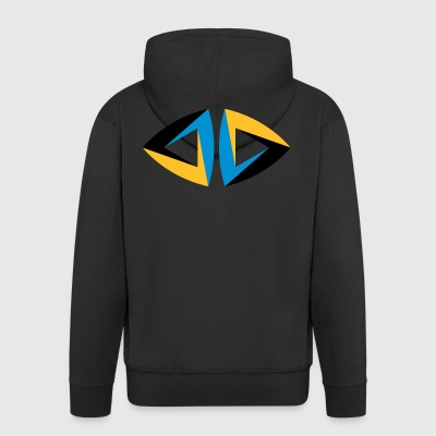 impossible figure Escher triangle geometry hipster - Men's Premium Hooded Jacket