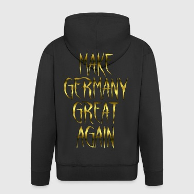 Make Germany Great Again Gold 001 AllroundDesigns - Männer Premium Kapuzenjacke