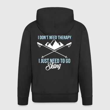 Skiing Therapy Shirt - Men's Premium Hooded Jacket