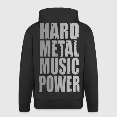 hard metal music power 02 - Veste à capuche Premium Homme