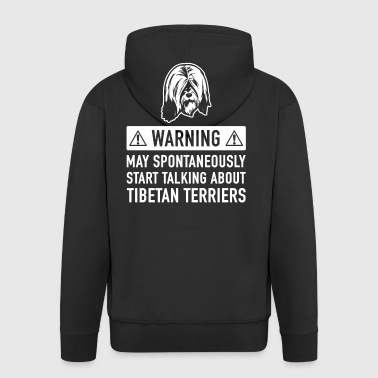 Funny Tibetan Terrier Gift Idea - Men's Premium Hooded Jacket