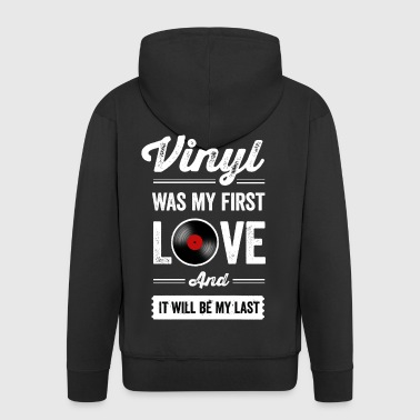 Vinyl Was My First Love - Männer Premium Kapuzenjacke