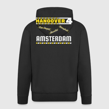 Hangover Party Amsterdam Holland Netherlands Travel - Men's Premium Hooded Jacket