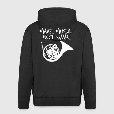 Music Peace Peace War Statement Gift - Men's Premium Hooded Jacket