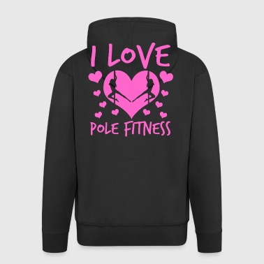 I Love Pole Fitness Pole Dance Shirt Gift - Men's Premium Hooded Jacket