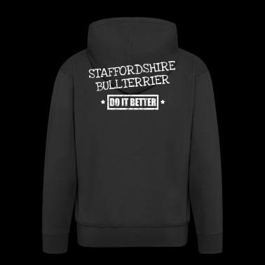 Stefforshire Bullterrier - Men's Premium Hooded Jacket