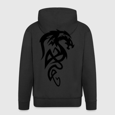 Tribal dragon - Men's Premium Hooded Jacket