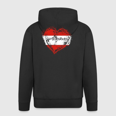 HOME ROOTS COUNTRY GIFT LOVE Austria - Männer Premium Kapuzenjacke