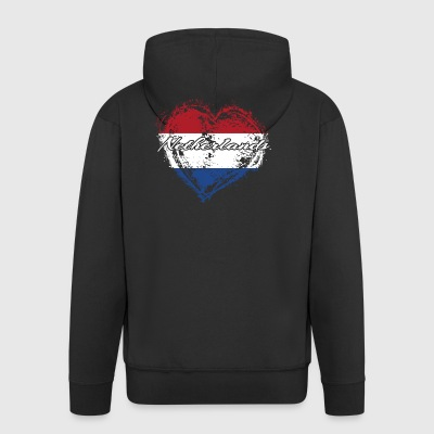 HOME ROOTS COUNTRY GIFT LOVE Netherlands - Men's Premium Hooded Jacket