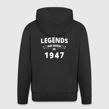 Camicia Legends - Legends nascono nel 1947 - Felpa con zip Premium da uomo