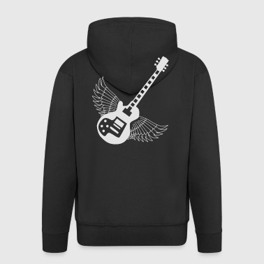 Master of Rock - musician design gift idea - Men's Premium Hooded Jacket