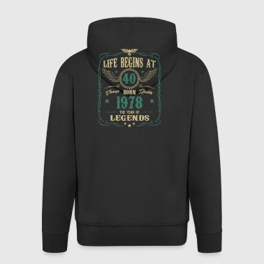 40th Birthday Gift - born in 1978 - Men's Premium Hooded Jacket