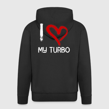 I love my turbo - Men's Premium Hooded Jacket