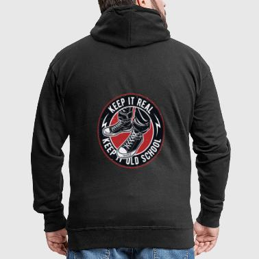 Keep It Real Keep It Old School Vintage - Männer Premium Kapuzenjacke