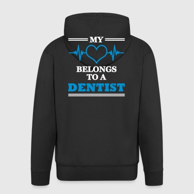 My heart belongs to a dentist - Männer Premium Kapuzenjacke