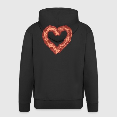 Bacon gift bacon meat lovers meat - Men's Premium Hooded Jacket