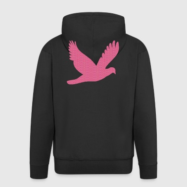 The pink patterned bird - Men's Premium Hooded Jacket