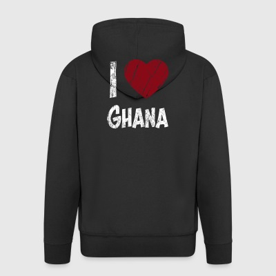 I love Ghana - Men's Premium Hooded Jacket