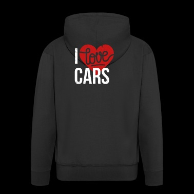 I love cars - Men's Premium Hooded Jacket