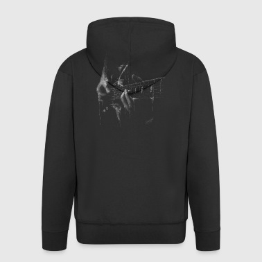 guitar - Men's Premium Hooded Jacket