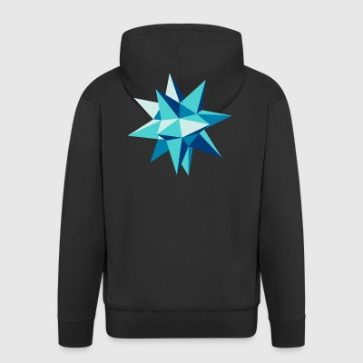 3-D star Christmas origami geometry hipster - Men's Premium Hooded Jacket
