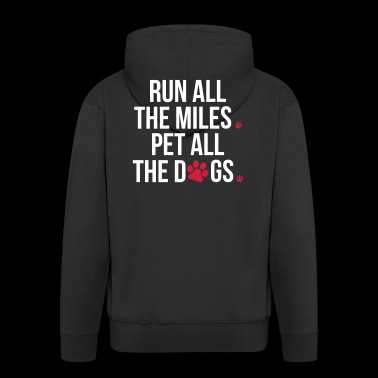 Run Pet All The Dogs - Männer Premium Kapuzenjacke