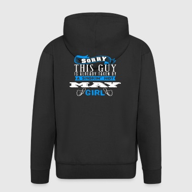 This Guy already taken Smokin' Hot Girl - Men's Premium Hooded Jacket