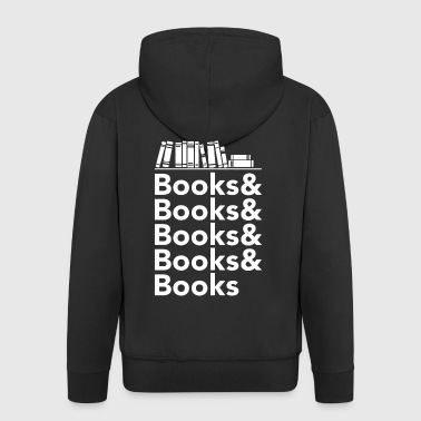 Books and Books Shirt - Men's Premium Hooded Jacket