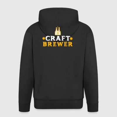 Craft Brewer Craft Beer Craftbeer Gift - Men's Premium Hooded Jacket