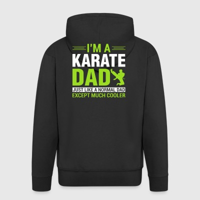 Gift for the Karate Father, Gift Karate Dad - Men's Premium Hooded Jacket