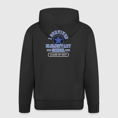 I Survived Elementary School Class Of 2017 Tee Shirt - Men's Premium Hooded Jacket
