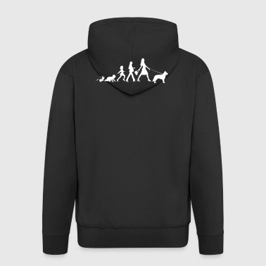 German Shepherd Gifts Grow Evolution Woman - Men's Premium Hooded Jacket
