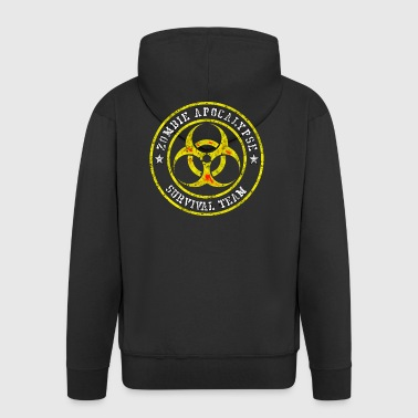 Zombie Apocalypse Survival Team Gift - Men's Premium Hooded Jacket