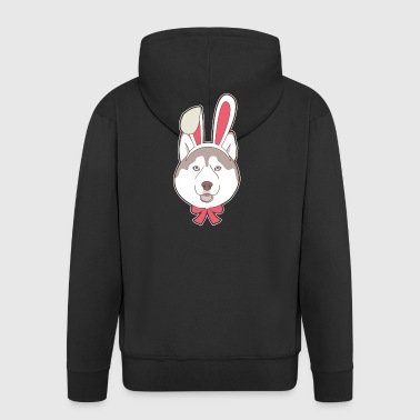 Siberian Husky Easter Bunny Happy Easter Gift - Men's Premium Hooded Jacket