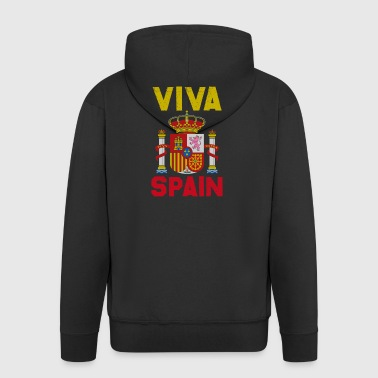 Sense of Life Spain Coat of Arms Europe Madrid Gift - Men's Premium Hooded Jacket