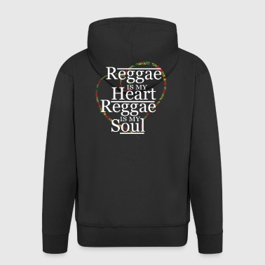 Reggae reggaeton music grass chilling gift - Men's Premium Hooded Jacket