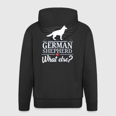 German shepherd dog what else? German Shepherd - Men's Premium Hooded Jacket
