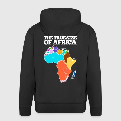 THE TRUE SIZE OF AFRICA - Men's Premium Hooded Jacket
