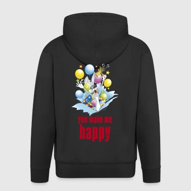 You make me happy - Men's Premium Hooded Jacket