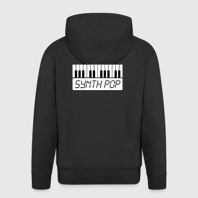 MUSIC synth-pop (1) - Chaqueta con capucha premium hombre