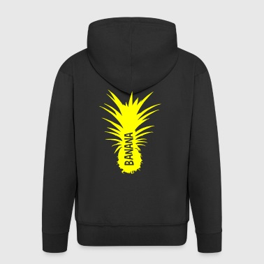 Bananas Pineapple yellow cut - Men's Premium Hooded Jacket