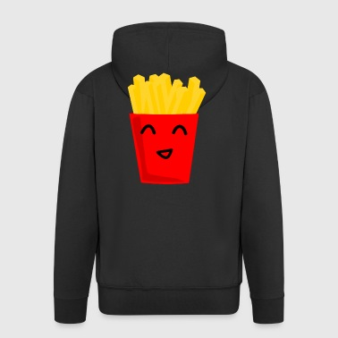 Fries happy fries BBQ gift gift idea - Men's Premium Hooded Jacket